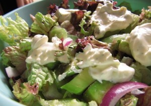 Avocado cucumber salad with the addition of lemon juice