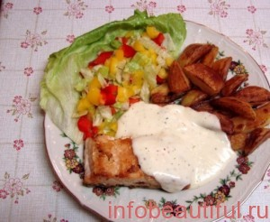 лосось под соусом домашний рецепт