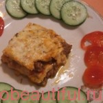 Meat lasagna with vegetables