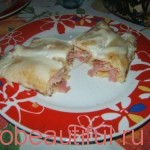 Recipe pancakes with ham