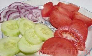 Фото рецепта греческого салата шаг 2