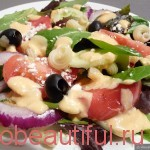Greek salad – a step by step recipe photos