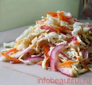 Рецепт Пряная капуста с курицей