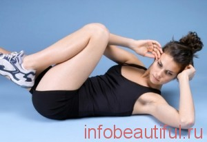 Упражнение для похудения  Повороты при скручивании
