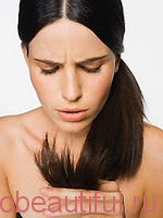 Treatment of split ends of hair at home